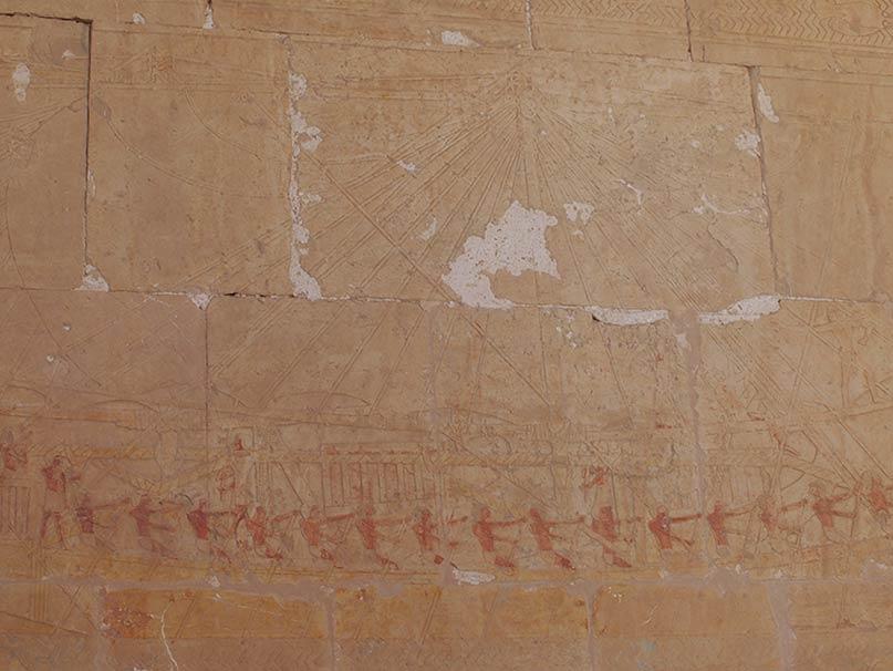 Schiff aus Punt Tempel der Hatschepsut Neues Reich, 18. Dynastie