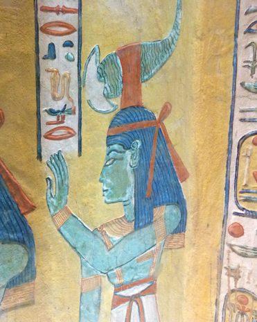 Die Göttin Selket im Grab des Khaemwaset (QV 44) Tal der Königinnen, Thebe-West Neues Reich, 19. Dynastie